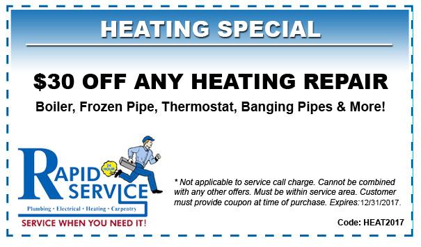 30 off any heating repair